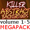 Killer Abstract Backgrounds v1-5 MegaPack