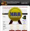 Thumbnail Forex Review Site with MRR (Master Resale Rights)