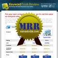 Thumbnail Keyword Research Review Site with MRR (Master Resale Rights)