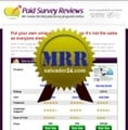 Thumbnail Paid Survey Review Site with MRR (Master Resale Rights)
