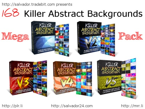 Product picture Killer Abstract Backgrounds v1-5 MegaPack