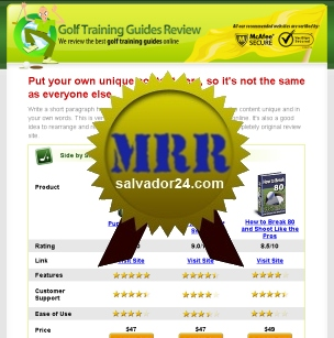 Product picture Golf Review Site with MRR (Master Resale Rights)